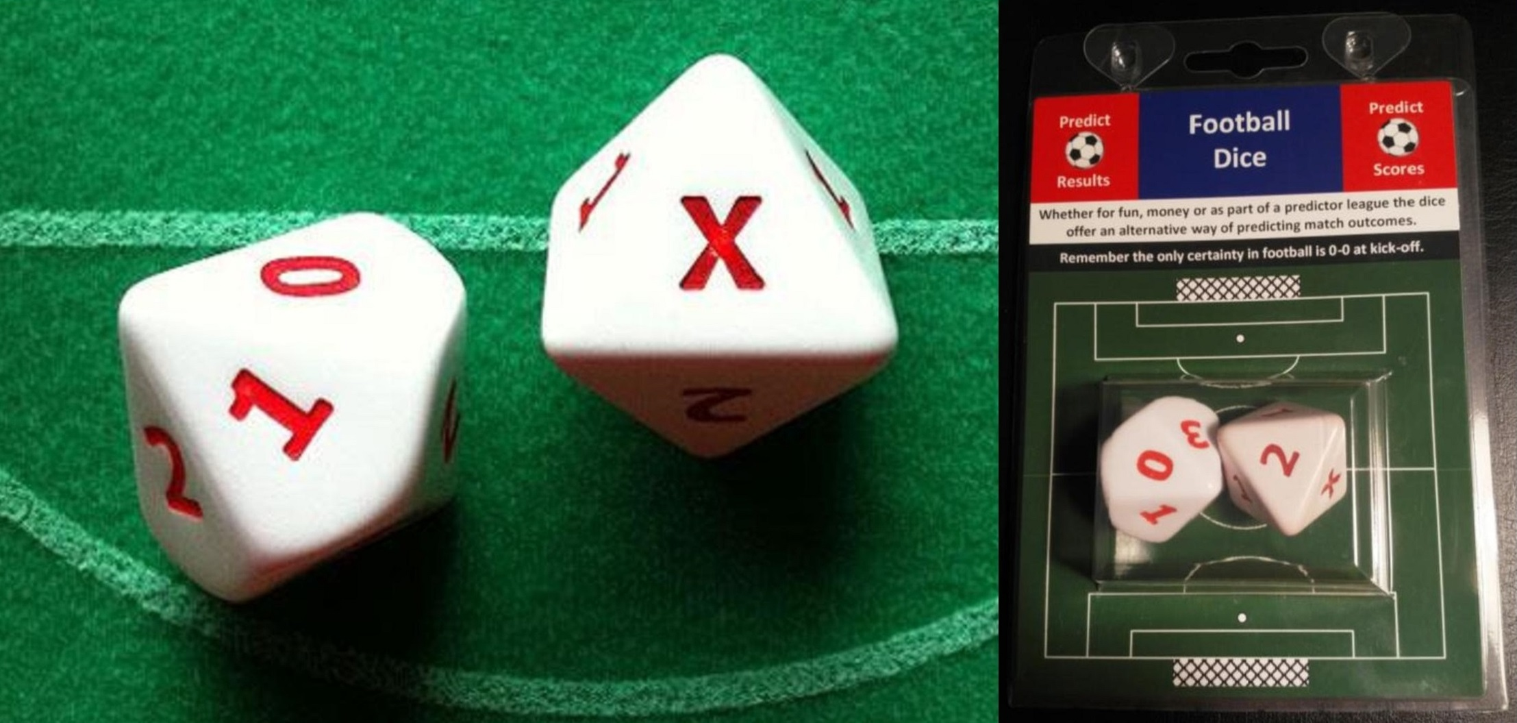 Football Results Predictor Dice -